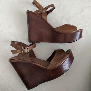 Aldo platform sandals wedges